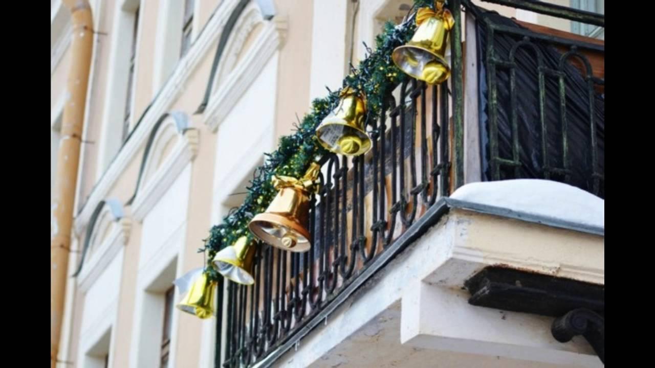 Decorar terrazas y balcones en navidad youtube for Adornos navidenos para balcones