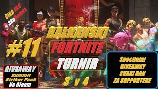 🔴 Balkan Fortnite TURNIR #11 GIVEAWAY 5$ + 2 Steam Keys + Specijalni GIVEAWAY za Supportere
