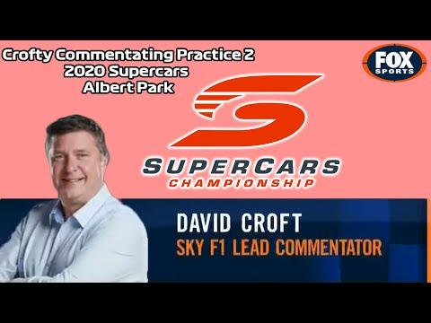 Sky F1 David Croft Commentating V8 Supercars Practice in Melbourne