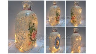 Decoupage Tutorial - Vintage Glass Bottle Art