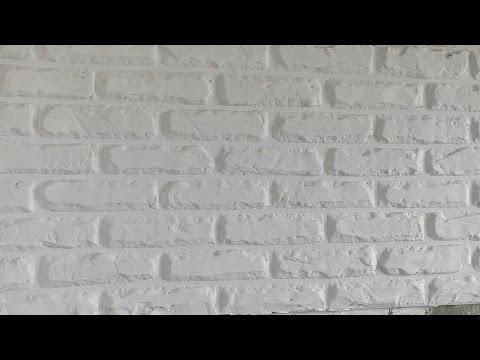 Штукатурка под кирпич своими руками видео
