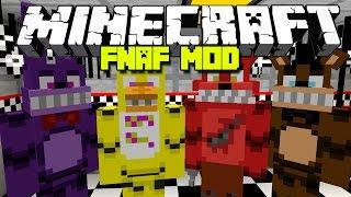 Minecraft INSANE FNAF 1 MOD / ALL NEW FNAF ANIMATRONICS!! Minecraft