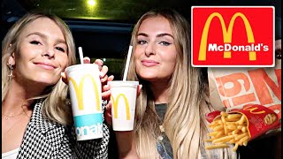 Letting the person IN FRONT of us DECIDE our order! + MUKBANG 🍟