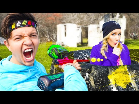 EXTREME Paintball Hide and Seek - Challenge with Preston