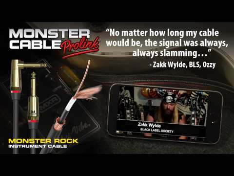 Zakk Wylde on Monster Cable Prolink