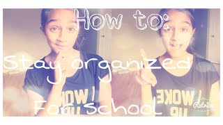 Staying Organized For School - VVPEACECANADA Thumbnail
