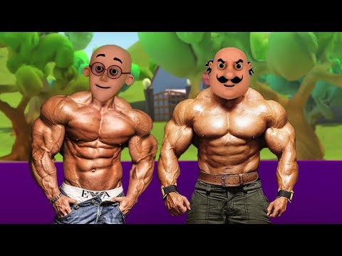 Motu Patlu VS John Body GIANT Ghasitaram Motu Patlu Coloring In Hindi - 3D Animation Kids Cartoon #2