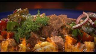 Азу из говядины с соленой черемшой | Мясо. От филе до фарша