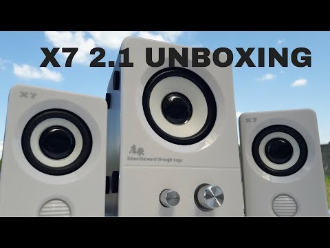 X7 2.1 hangrendszer UNBOXING