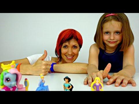 Игры для девочек: МАГАЗИН ТЕЛЕФОНОВ. Пони, Золушка, Рапунцель и Пластилин Плей До. Видео для детей.