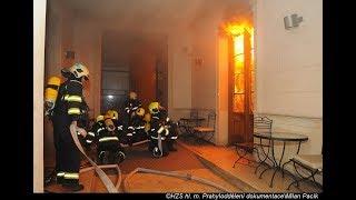 HZS PRAHA: Při požáru hotelu v Praze byl vyhlášen zvláštní stupeň poplachu