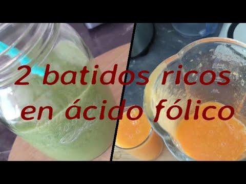 #Receta 18# 2 batidos ricos en ácido fólico para las embarazadas!