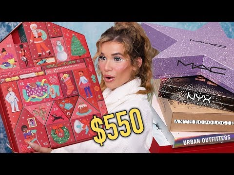 I SPENT $550 On BEAUTY ADVENT CALENDARS! ...was It Worth It?