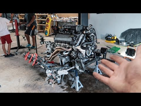 Pulling the Mustang's Engine in under 3 HOURS!!
