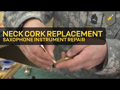 Neck Cork Replacement: Saxophone Instrument Repair