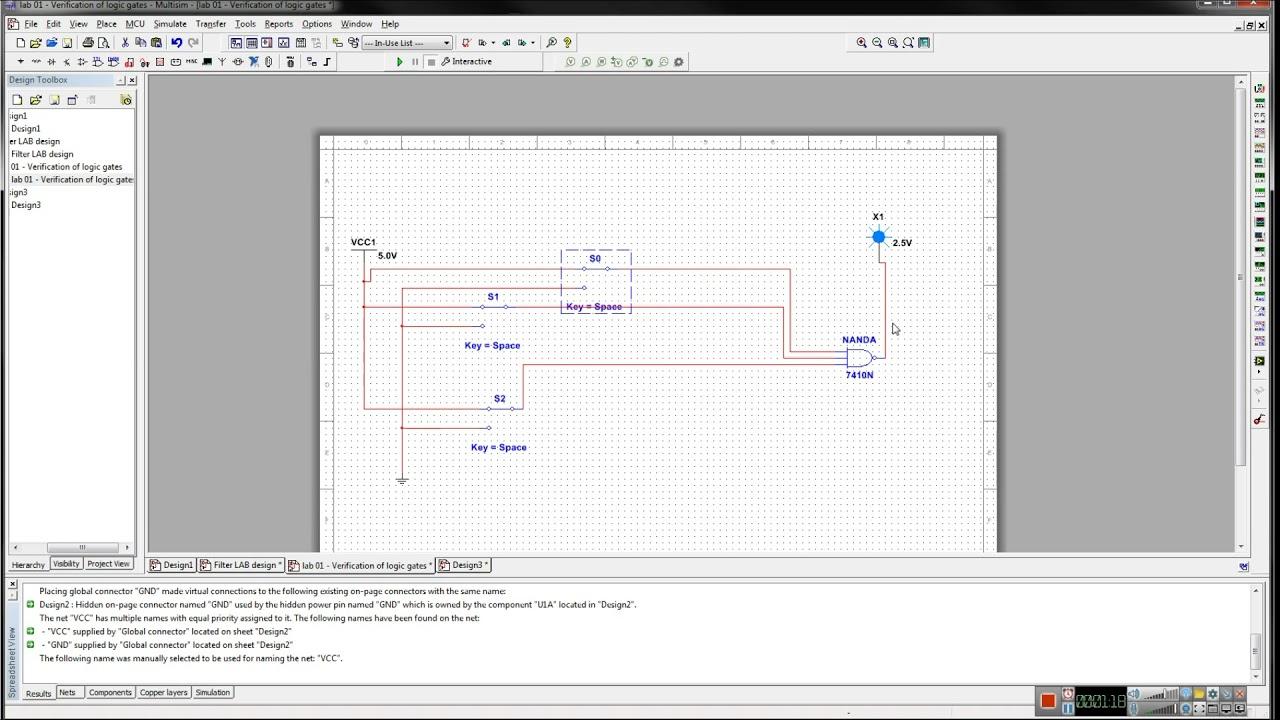 Verification of logic gates using multisim - YouTube