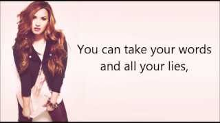 Repeat youtube video Demi Lovato ft. Cher Lloyd - Really Don't Care (lyrics + pictures)