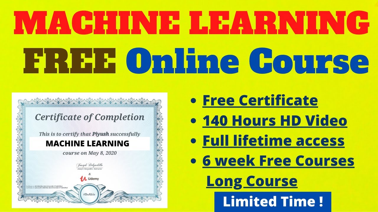 Top 4 Free Machine Learning Courses With Certificate of Completion | Learn Machine Learning