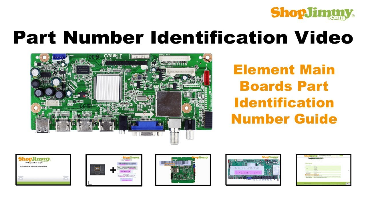hight resolution of tv part number identification guide for element main boards lcd led plasma tvs youtube
