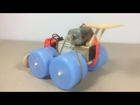 How to make a toy car - Powered Electric Motor Car DIY - Very Simple