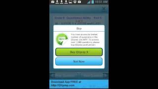 Educational Apps Qvprep Lite Grade 9 Math English app video part 5 Practice test 5