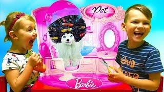 САЛОН КРАСОТЫ для животных Барби Игрушки для девочек Развлечения для для детей Новые игрушки