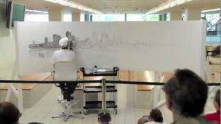 Stephen Wiltshire draws Brisbane at State Library of Queensland