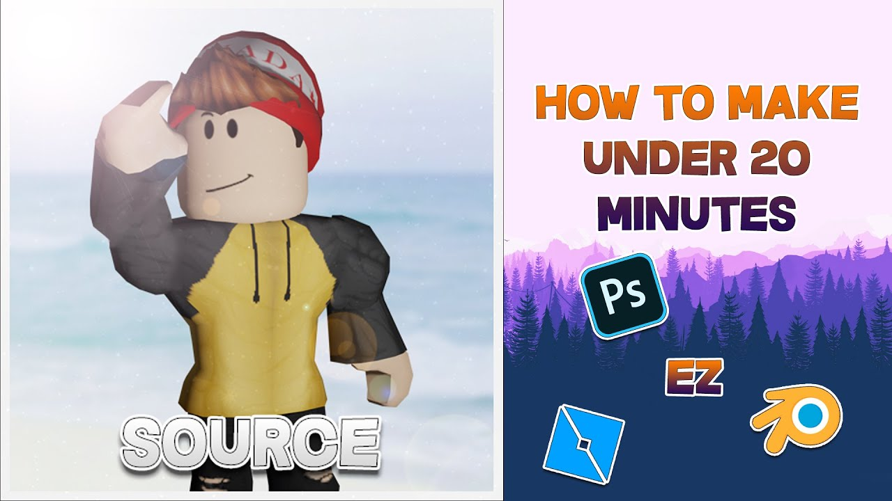 How To Make A Roblox Gfx April 2020 Blender Youtube