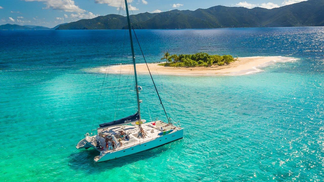 Catamaran bliss bvi yacht charter vacation youtube for By the cabin catamaran charters