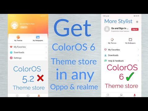 ColorOS 6 theme store for all Oppo and realme