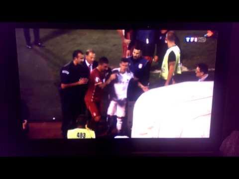 Michel Platini interview sur match Albanie Serbie