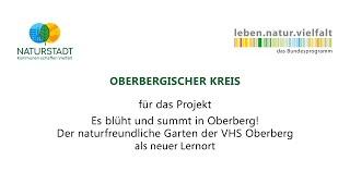Oberbergischer kreis: auszeichnung im wettbewerb naturstadt