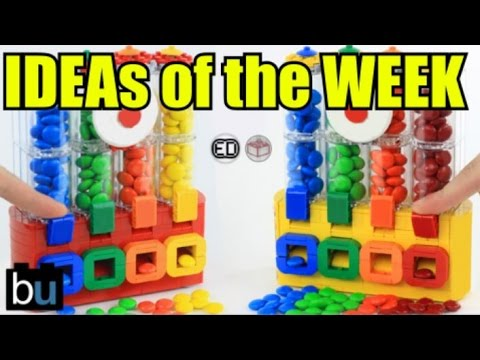 M&M's Chocolate Candy Dispenser - LEGO Ideas of the Week #2 - YouTube