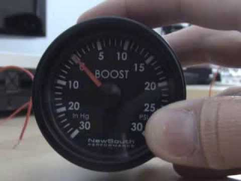 How to Adjust the NewSouth boost gauge needle to exact center Vlog