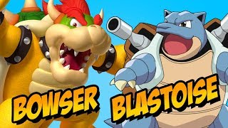 How to Draw Bowser Blastoise | Fusion Challenge