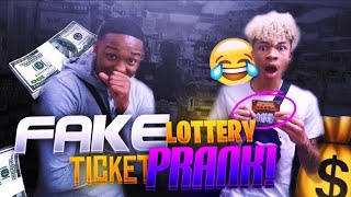 FAKE LOTTERY TICKET PRANK ON BESTFRIEND 😭💰(HE DID NOT WANT TO SPLIT THE MONEY)🤦🏽♂️