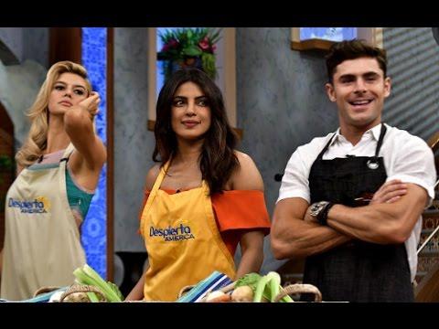 Cast of Baywatch follow instructions of a recipe in Spanish | Priyanka Chopra