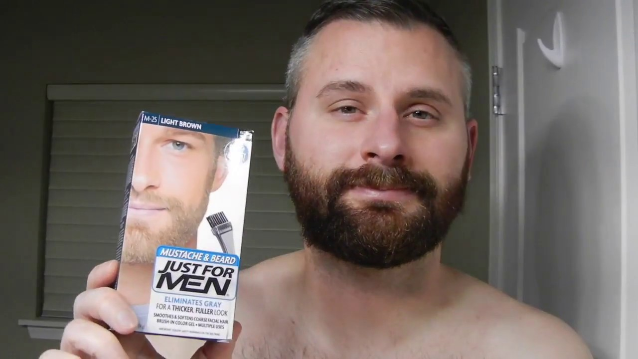 How To Dye Your Beard - Using Just For Men Mustache & Beard - YouTube