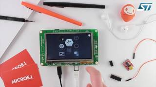 powered by microej application store demo on stm32f746 disco
