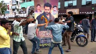 bhimavaram ntr fans   janatha garage sucess celebrations   bhimavaram   pakka local full video song