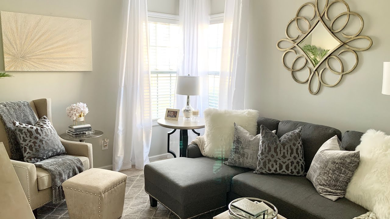 2020 Living Room Tour Small Space Decorating Ideas Youtube