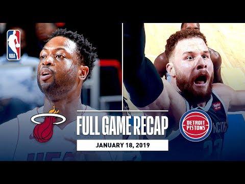 Full Game Recap: Heat vs Pistons | Dwyane Wade