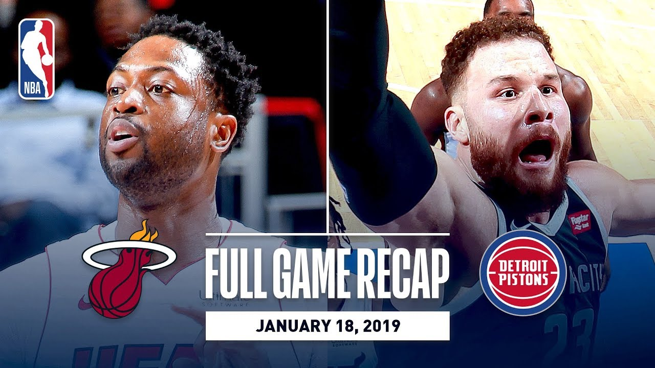 Full Game Recap: Heat vs Pistons | Dwyane Wade's Last Game In Detroit