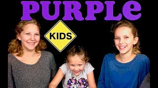 Learn English Colors with Sign Post Kids!  Purple 1