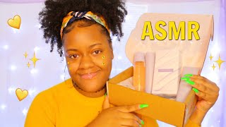 ASMR - ♡✨ FENTY BEAUTY SKIN UNBOXING + RELAXING TAPS & WHISPERS ✨♡