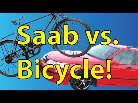 Saab 9-5 Vs Bicycle! - Trionic Dash Episode 2