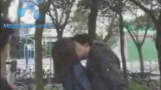 Repeat youtube video Mike He and Rainie yang kIss eng sub