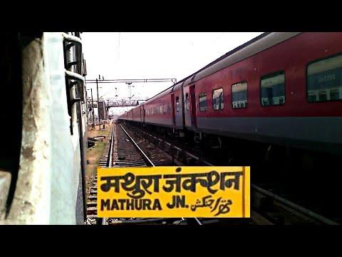 MATHURA JUNCTION Arrival & Departure | 12403 Allahabad Jaipur Express!!