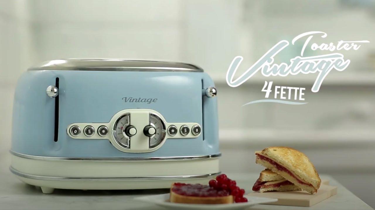 Ariete tostapane 4 fette 156 vintage youtube for Tostapane ariete vintage