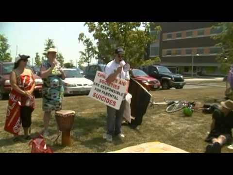 Rally And March For Accountability And Awarness Of CAS/60's Scoop, Kingston Ontario, July 16th 2013